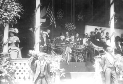 General Porfirio Díaz celebra una fiesta americana en el Hipódromo de Peralvillo