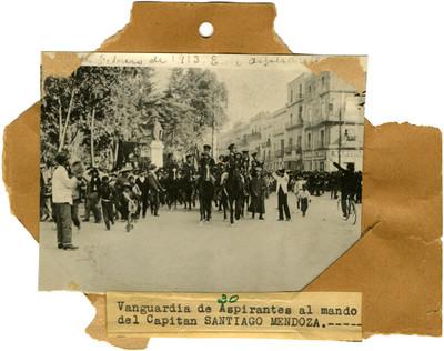Vanguardia de Aspirantes al mando del capítan Santiago Mendoza