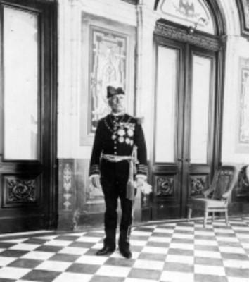 Porfirio Díaz en el Castillo de Chapultepec, retrato