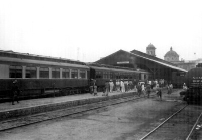 Vista parcial de la estación de ferrocarril de Guadalajara