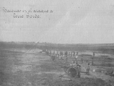 Baterias en el ataque a Cerro Gordo