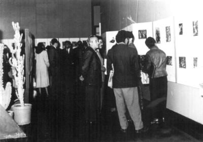 Amador Lugo y Francisco Vazquez, en una exposición de grabados en el Museo Nacional de Historia