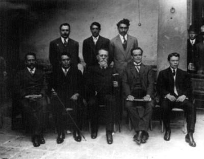 Venustiano Carranza y los diputados constituyentes de San Luis potosí, retrato de grupo