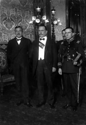 Alvaro Obregón, Plutarco Elías Calles y Francisco Serrano, retrato
