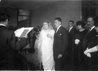Alvaro Obregón en el matrimonio de Fernando Torre Blanca