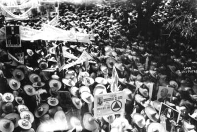 Manifestación de apoyo del Sector Campesino a Pascual Ortiz Rubio