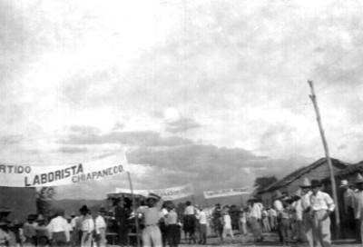 Legada del General Carlos Augusto a Tuxtla Gutiérrez