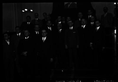 Julio García con otros abogados en la Suprema Corte de Justicia, retrato de grupo