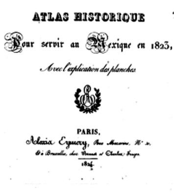 Portada del Atlas Histórico de N. Bullock