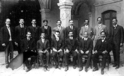 Diputados contituyentes del Estado de Michoacán, retrato de grupo