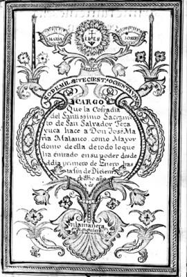 Documento del cargo que se le otorga a Don José Maria Malanco