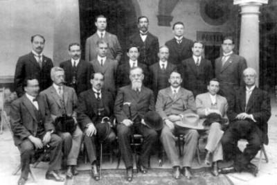 Venustiano Carranza con diputados representantes de Jalisco, retrato de grupo