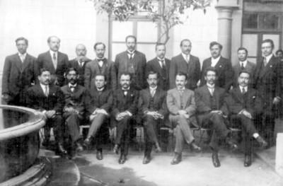 Comisión de estudio del artículo 123 en el Congreso Constituyente, retrato de grupo