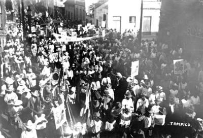 Manifestación de apoyo a Pascual Ortiz Rubio en Tampico