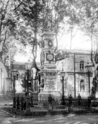 Monumento erigido a los mártires de Uruapan, Michoacán