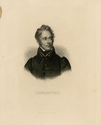 Alphonse de Lamartine, litografía