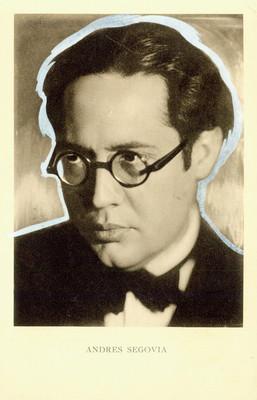 Retrato de Andrés Segovia en una Tarjeta postal