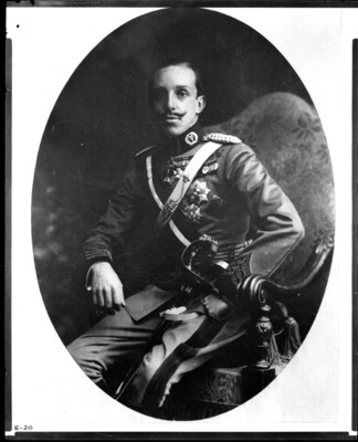 Alfonso XIII, rey de España, retrato