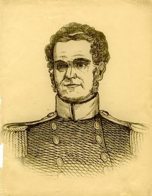 Litografia de un militar, reprografía