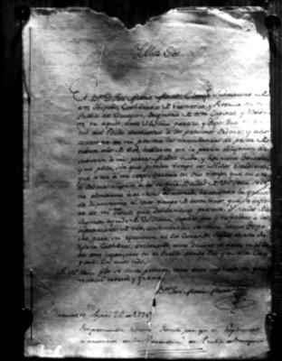Carta firmada por José María Morelos y Pavón