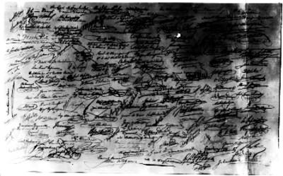 Firmas de los diputados del Congreso Constituyente