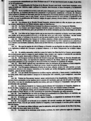 Decreto sobre la compañía Lancasterianas del articulo 17° al 37°