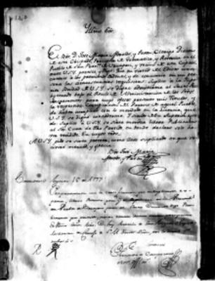 Carta de José María Morelos al obispado de Michoacán para la ampliación de sus licencias