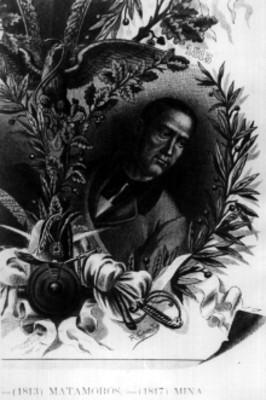 Litografía de Mariano Matamoros, del Tomo III de México a través de los Siglos