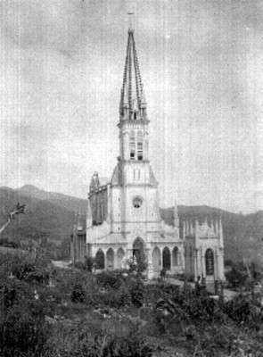 Panorámica del Santuario de Guadalupe en Cuetzalan