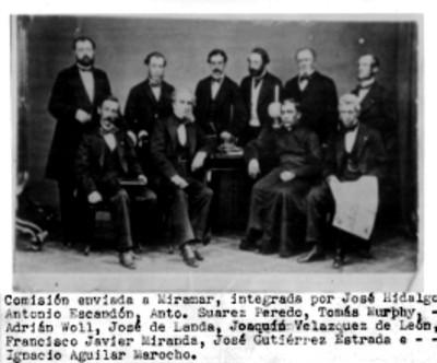Comisión de Miramar, retrato de grupo, reprografía