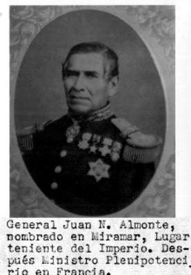 Retrato del General Juan N. Almonte, reprografía
