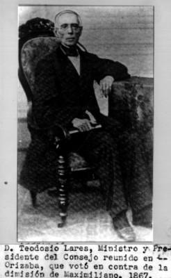 Retrato de Teodosio Lares, reprografía