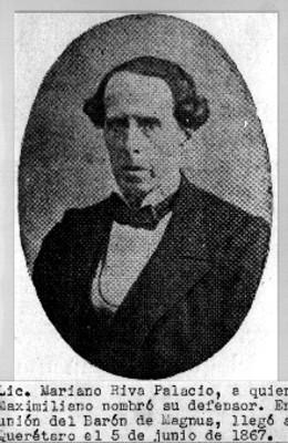 Retrato de Mariano Riva Palacio, reprografía