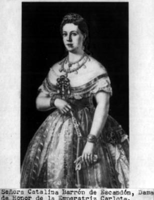 Retrato de doña Catalina Barrón de Escandón, reprografía