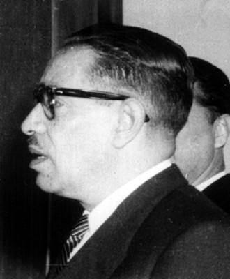 """Ing. Alfonso Poire Ruelas"", retrato de perfil"