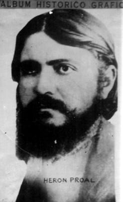 """""""Herón Proal"""", retrato, reprografía"""