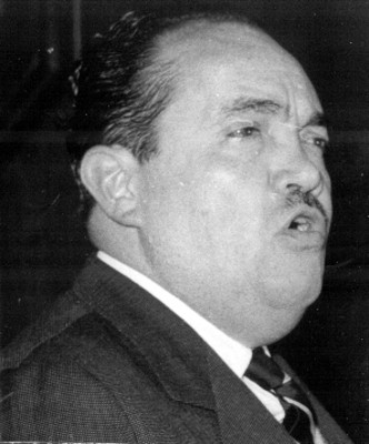 """Alfonso """"Chato Noriega"""", pronuncia un discurso, retrato"""