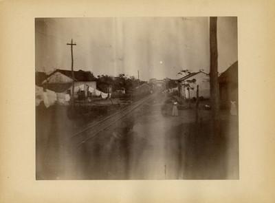 Vista parcial de una calle en Tlacotalpan, Veracruz