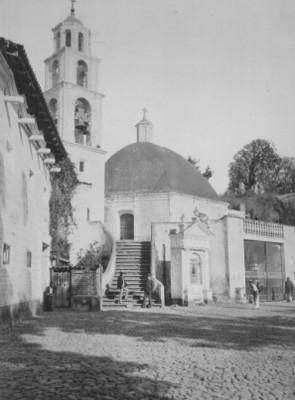 Vista parcial de la capilla del Sacromonte en Amecameca