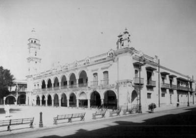 Vista del edificio del ayuntamiento de Veracruz