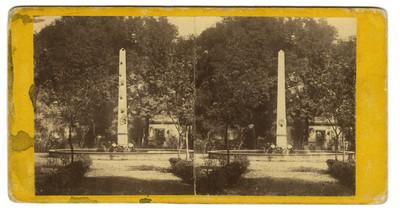 """""""Alameda de Tacubaya"""", estereoscópica"""