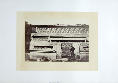 Interior del edificio de las grecas en Mitla