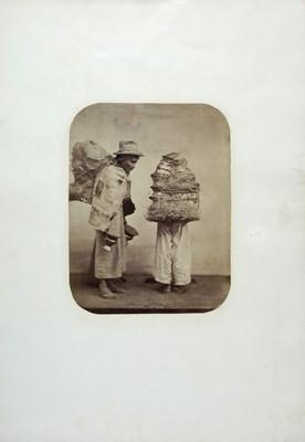 Vendedores de cerámica, retrato