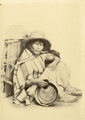 Vendedor de ollas de barro, retrato
