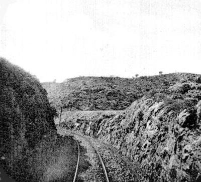 Vías del ferrocarril, paisaje.ç