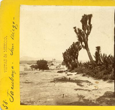"""Pueblo de """"Tacubaya"""", paisaje"""