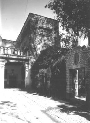 Vista del patio de una casa antigua