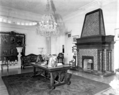 Casa habitación, vista de la chimenea