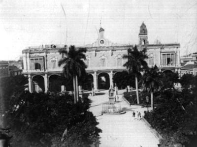 Isla de Cuba. Palacio de Gobierno y Plaza de Armas. Habana