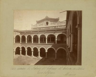Vista interior del Palacio del Gobierno del Estado de Jalisco. Guadalajara